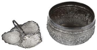 A Burmese silver bowl, 19th c.