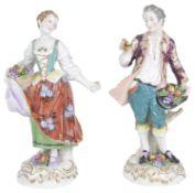 A pair of late 19th c. Samson of Paris Chelsea figures