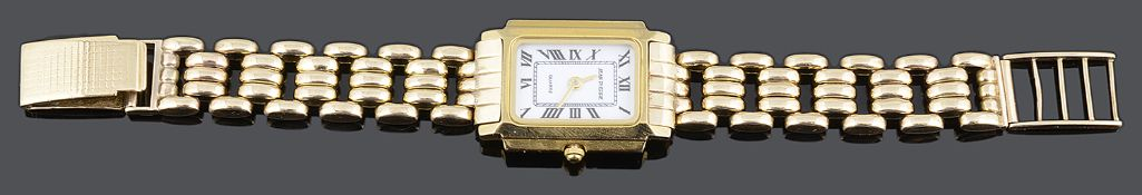 A Jean Pierre ladies wristwatch with associated 9ct gold link bracelet and clasp