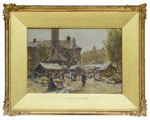 James William Milliken (Brit., fl. 1887-1930) a pair of watercolours depicting Bruges