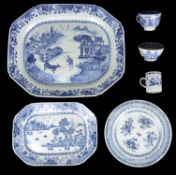 A collection of 18th c. Chinese blue and white export ware