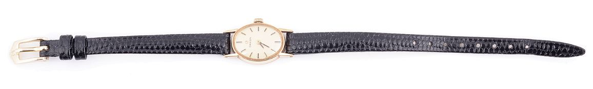A 9ct gold Omega ladies wristwatch