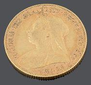 A Queen Victoria gold full sovereign 1896