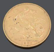 An Australian Queen Victoria gold full sovereign 1890 Melbourne Mint