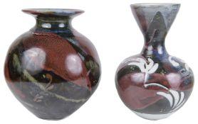 Margaret Frith (b.1943) Two Studio Pottery Porcelain Vases