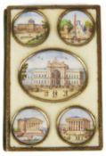A charming mid 19th c. Fr. Palais Royal ivory notebook