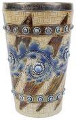 A Doulton Lambeth stoneware beaker by Emma Martin, c1875