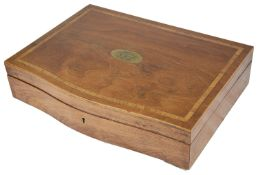 A mahogany cutlery box with maritime interest, early 20th c.