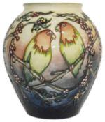 A Moorcroft 'Love Birds' vase, c2000