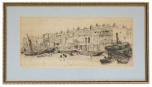 William L Wyllie (Brit., 1851-1931) two etchings; Rowland Langmaid (Brit./Can., 1897-1956) etching