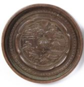 An 18th century Chinese polished bronze hand mirror
