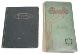 Two early 20th century postcard albums