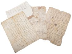 An album of 18th century Fr. letters and legal documents