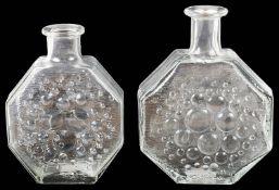 Two late 1960s Finnish 'Stella Polaris' glass decanters by Nanny Still for Riihimaen Lasi