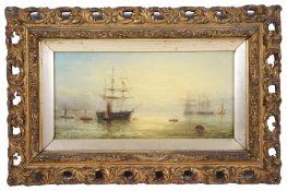 William Adolphus Knell (Brit., 1805-1875) An evening marine scene