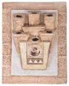 A Troika pottery wall pocket
