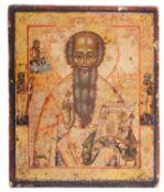 A Russian Provincial School icon of a Saint Nicholas, 19th/20th c.