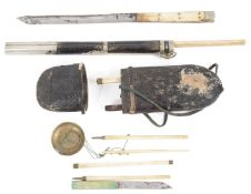 Two 19th century Oriental travelling eating sets