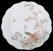 An 18th century Chinese famile rose plate c.1760