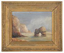 J. J. M. Walton (19th c. Brit.) View of a coastal rock arch