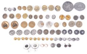 A large collection of Victorian and later enamelled, silver and brass buttons