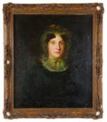 Mid 19th c. Brit. School 'Portrait of woman', oil on canvas