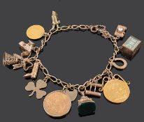 A 9ct charm bracelet
