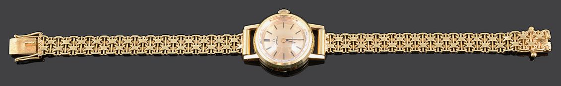 A ladies 1970's 18ct gold Omega wristwatch