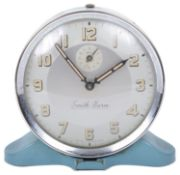A 1950s Smith blue enamel alarm clock
