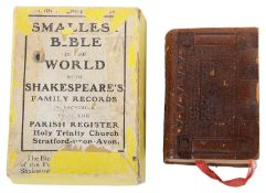 The Smallest Bible in the World with Shakespeare's Family Records