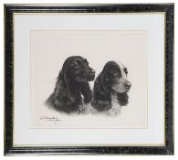After Leon Danchin 'A study of two cocker spaniels'