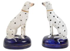 A pair of late 19th century Staffordshire Dalmatians