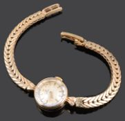 A ladies 9ct gold Omega wristwatch