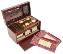 """A late Vict./ Ed. Charles Goodall & Son '""""The Marlbrorough"""" table top playing card cabinet"""