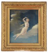 Early 19th c. Brit. School 'Diaphanous semi-nude nymph in flight'