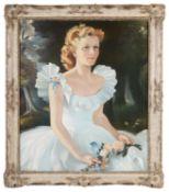 Anna Zinkeisen (Scottish 1901-76) Portrait of Alice Elizabeth Robinson