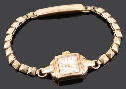 A ladies 9ct gold Avia wristwatch