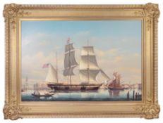 Salvatore Colacicco (Brit./Italian) American man o'war Peeress in sail