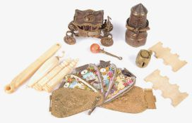 A small collection of 19th century and later sewing items