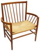 A Danish Jorgen Baekmark for FDB Mobler J82 oak lounge chair c.1963