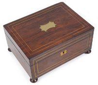 A late Georgian rosewood box