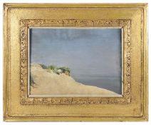 Late 19th c. Brit. School 'Sand dunes', oil on board