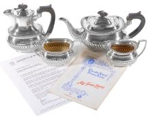 Mappin & Webb Ltd silver plated tea set; used in 'My Fair Lady' at the Theatre Royal