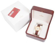 A gentleman's cased 18ct gold Omega DeVille Automatic Chronometer calendar wristwatch