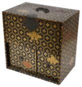 A Japanese miniature gilt lacquer kodansu, Meji period
