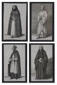Wenceslaus Hollar (Bohemian, 1607-1677) copper engravings (4)