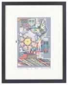 Sir Eduardo Paolozzi (Scot.1924-2008) 'Brazil' screenprint in colours