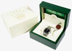 A Gentleman's stainless steel Rolex Oyster Perpetual Explorer I wristwatch, 2005 Ref 114270