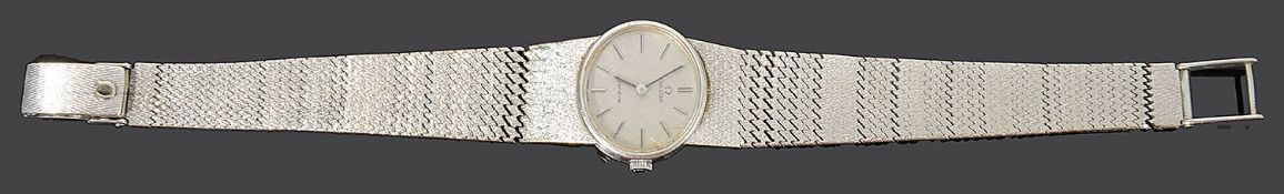 A 1970s ladies 9ct white gold Omega wristwatch
