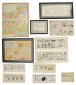 A collection of cartoon strips by various artists, pen and ink (17)